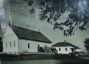 Meeting house and school picture 1930's
