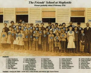 Friends School at Mapleside 2-8-1914