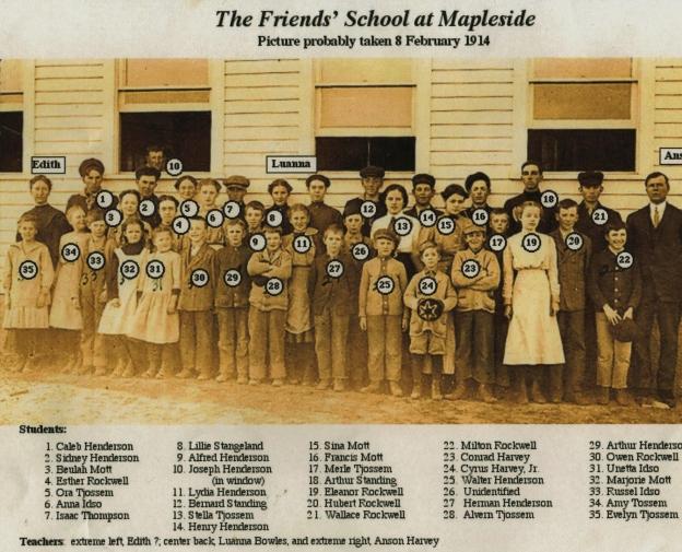 Friends School at Mapleside 2-8-1914
